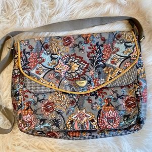 Oilily Boho Chic Floral Messenger Bag